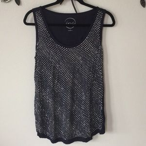 Metallic navy tank
